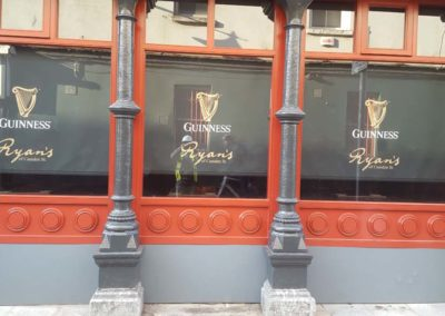Ryans Pub Restoration of cast iron columns 3