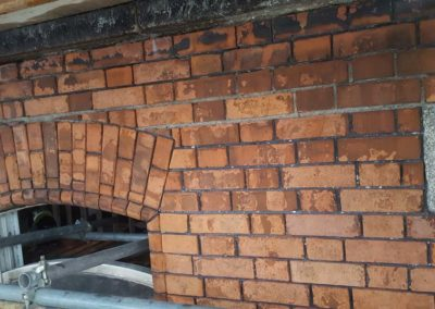 Examples of Brick repairs to Grade 1 Protected Structures