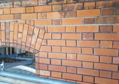 Westland Row Project Brick Repairs using breathable repair mortar to reface debonded protected layer _2